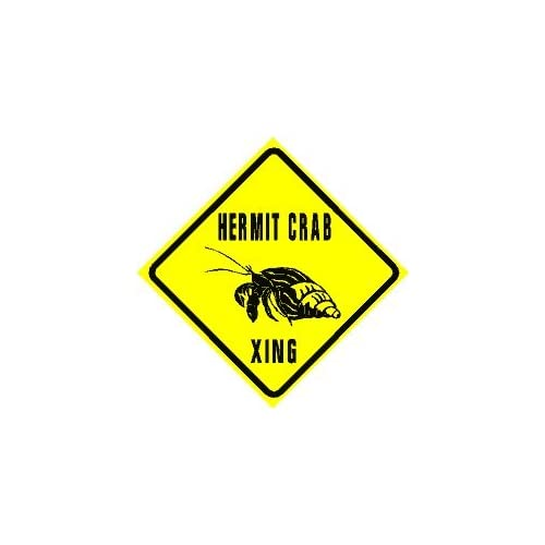 Amazon.com - HERMIT CRAB CROSSING pet land ocean sign - Yard Signs