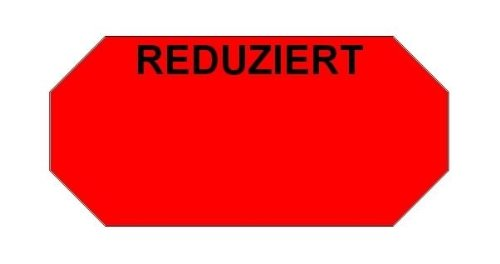 Haftetiketten handauszeichner pour 26 x 12 mm (54.000.. réduit.