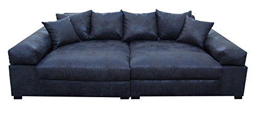 Big Sofa Couch Garnitur SCHWARZ XXL Megasofa Riesensofa Wohnlandschaft  Ultrasofa