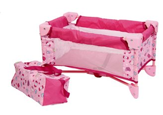 Baby-Doll-Bed-Playpen-Furniture-Playset-for-Dolls