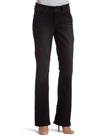 84cd26730cb Levi's 526 Misses Mid Rise Slender Fit Bootcut Jean with Tummy Slimming  Panel, Black Magic, 12 Medium