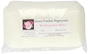 Cupcake World Fondant Sugarpaste Cake Icing Satin Wedding White 500 g (Pack of 2)