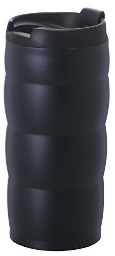 HARIO (ハリオ) タンブラー フタ 付き V60 ウチマグ 真空二重 ステンレス 350ml ブラック VUW-35B