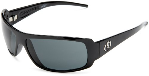 Electric Charge Sunglasses,Gloss Black Frame/Grey Lens,One Size