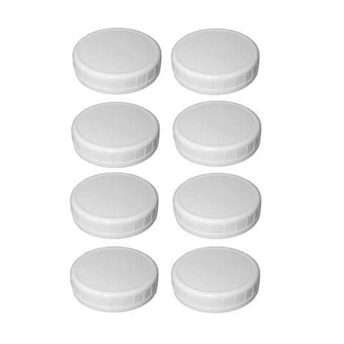 Sunshine Mason 80007 Co. Regular Mouth Jar Storage Plastic Caps 8 Pack (Plastic Canning Jar Lids compare prices)