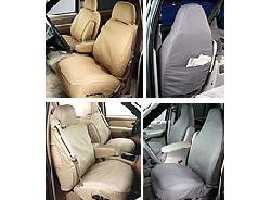 Covercraft Custom-Fit Front Bench Seatsaver Seat Covers - Polycotton Fabric, Grey front-165834