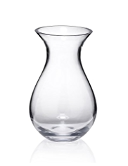 Curved Flared Top Clear Vase