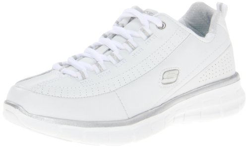 Skechers Synergy Elite Status 11798, Sneaker Donna, Bianco, 39