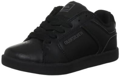 Quiksilver - Schuhe - LITTLE AREA 4 SLIM ACTION - KPBSL032-BGBS, Jungen Halbschuhe, Schwarz (BGBS blk gry blk), EU 30 (UK 11.5) (US 12.5)
