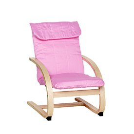 Kids Lounge Chair in Pink Bentwood Childrens Chair