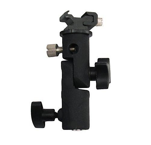 R-STYLE アンブレラバウンス撮影に 三脚取り付け式 アルミ製 ストロボ&アンブレラホルダー (クリップオンストロボ用 E型 カメラクロス付き) non