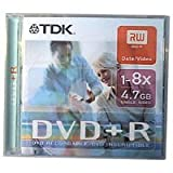 TDK DVD+R BLANK MEDIA STORAGE DISC 4.7GB 16x 5 PACK NEW