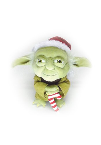 Comic Images Santa Yoda Doll Plush - 1