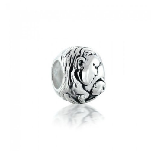 Bling Jewelry 925 Sterling Silver Mother and Child Bead Fits Pandora