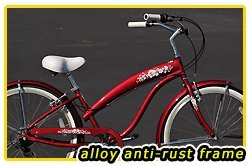 Anti-Rust Aluminum Frame! Fito Modena EX Alloy 7-speed Women - Burgundy, 26