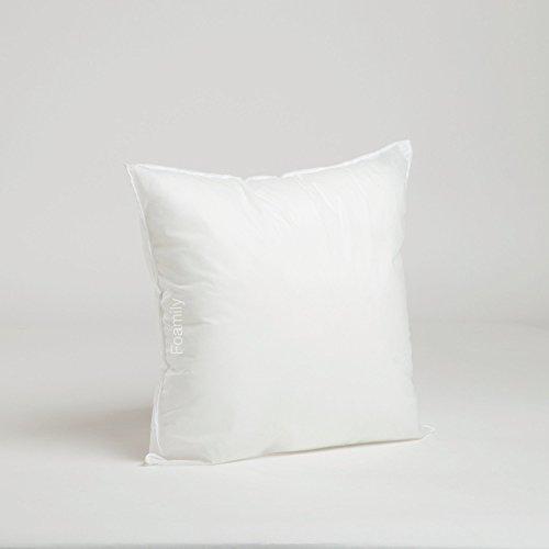 Buy 16 x 16 Premium Hypoallergenic Stuffer Pillow Insert Sham Square Form Polyester, Standard / Whit...