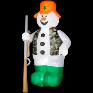 CHRISTMAS DECORATION LAWN YARD INFLATABLE HUNTING