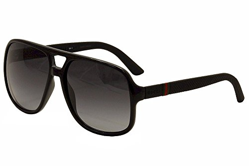 Gucci 1115S M1V Black Rubber 1115S Aviator Sunglasses Lens Category 3