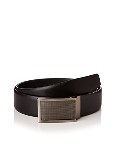 Ortiz & Reed Cinturón Piel Black Leather Belt Negro