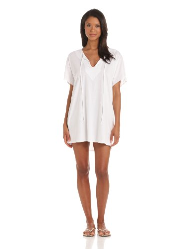 Michael Stars Women's Jersey Caftan, White, One Size