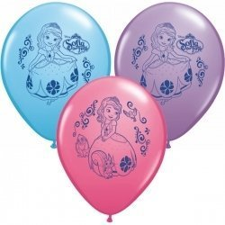 "Pioneer National Latex Sofia The First 12"" Latex Balloons, 6 Count - 1"