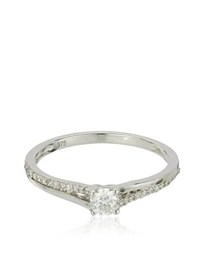 Bentelli Anillo 9K Gold 0.28Ct Diamonds Oro Blanco