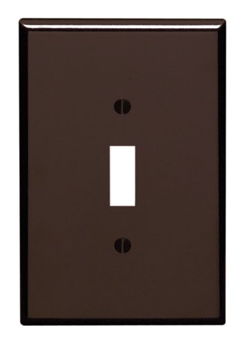 Leviton 85101 1-Gang Toggle Device Switch Wallplate, Oversized, Thermoset, Device Mount, Brown
