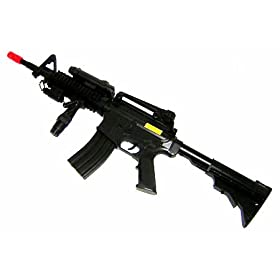 Well Mr-800 Spring Airsoft Rifle.w/ Red Scope, Flashlight and Adjustable Grip