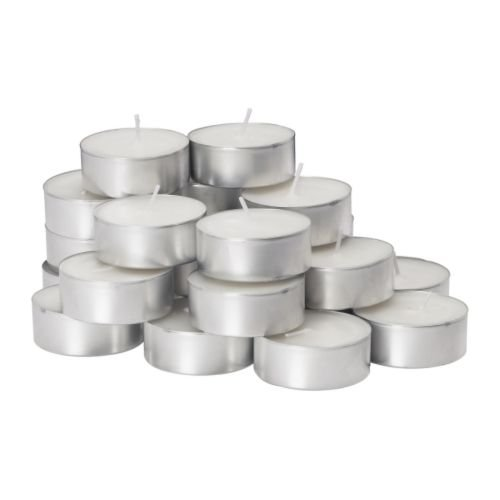 Glimma 9 Hr Burning Time 24 Pack Unscented Candle In Metal Cup