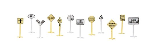Bachmann Railroad And Street Signs (24 Pieces) - N Scale