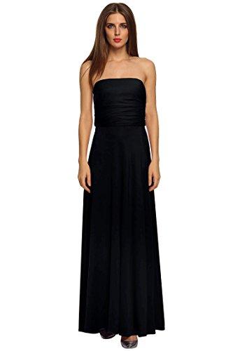 ACEVOG Women's V Neck Chiffon Bridal Evening party Long prom dress,Large