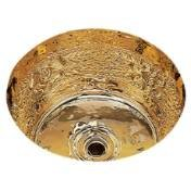 Bates & Bates CS 575 B0575R.SC Satin Copper Dual Mount Bar Sink Riatta Pattern 11 3/4 DIA. x 6 3/4
