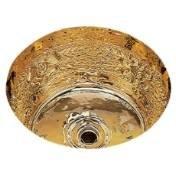 Bates & Bates CS 575 B0575R.SC Satin Copper Dual Mount Bar Sink Riatta Pattern 11 3/4 DIA. x 6 3/4