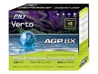 PNY NVIDIA GeForce 6800 GS AGP 8X 256MB DDDR3 1.0GHz Memory Data Rate GPU ( VCG6800SAWB )