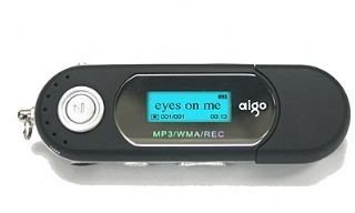 AIGO A203 512MB MP3 Player - Baby Pink