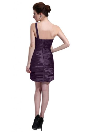 31QF8i2oJvL Special Offers: Emma Y Lady Womens One Shoulder Sheath Short Dress