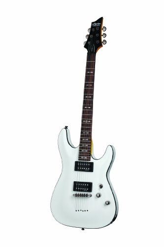 Schecter Omen-6 6-String Electric Guitar, Vintage White