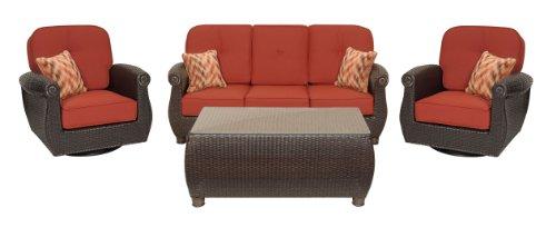 Breckenridge 4 Piece Patio Furniture Set: Two Swivel