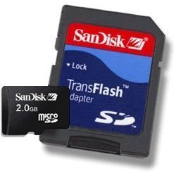 Sandisk - 2Gb Transflash Microsd Memory Stick Card For Samsung U520 U710 U740 M610 M500