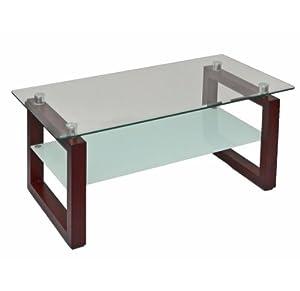 Wohnzimmertisch glastisch beistelltisch couchtisch braun for Wohnzimmertisch 50 cm