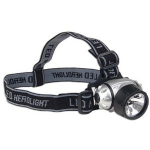 Black Nine Bulb LED Headlamp