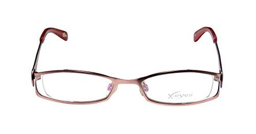Continental Eyewear X-Eyes 087 Womens/Ladies Designer Full-rim Eyeglasses/Spectacles (47-18-130, Rose / (Green Ranger Morph Suit)