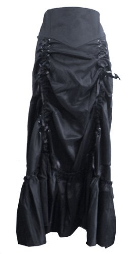 Gothic-Long-Sateen-Corset-Skirt-Sizes-6-26