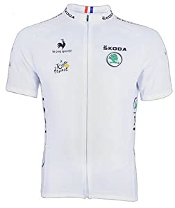 2013 Tour De France Mens White Short Sleeve Cycling Jersey,perfect Perspiration Breathable Mountain Clothing Bike Top