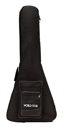 World Tour Deluxe 20mm Guitar Gig Bag for Gibson and Epiphone Flying V Guitars (Electric Flying V Guitar compare prices)