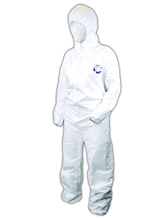 Magid EconoWear DuPont Tyvek Disposable Coverall with Hood, Elastic Cuff, White