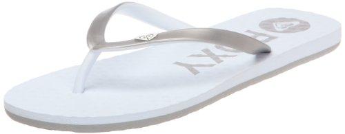 Roxy Women's Bi Tone White Flip Flops XMWSL143