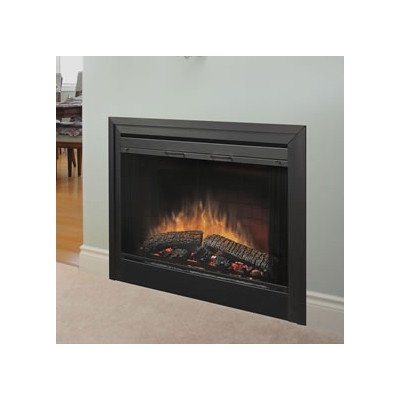 Bundle-33 2-Sided Built-in Electric Fireplace (3 Pieces) Size: 45