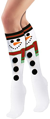 Forum Novelties Women's Adult Christmas Socks, Snowman, One