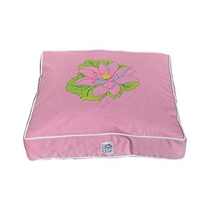 Pink Lotus Dog Bed Size: Large